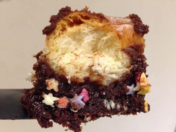 Krispy Kreme fudge brownies with sprinkles - too good to pass up!