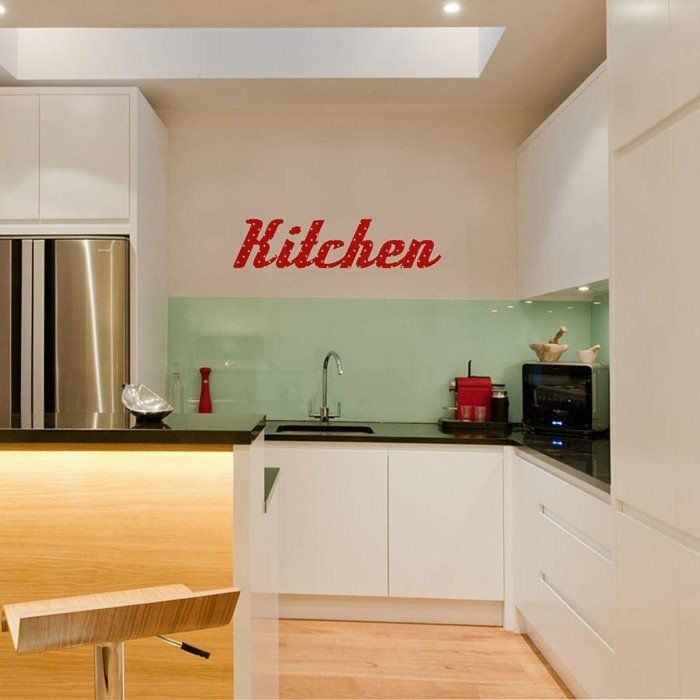 Couleur Peinture Cuisine   66 Idées Fantastiques. Kitchen RetroRetro  KitchensKitchen IdeasVinyl Wall StickersKitchen ... Part 97