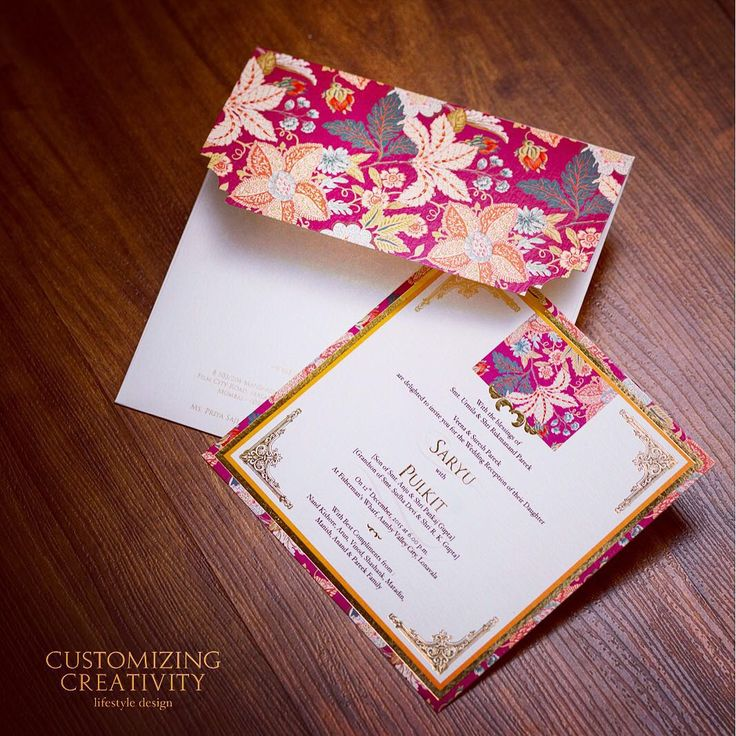 53 best Indian wedding invitation card images – Customized Invitation Cards