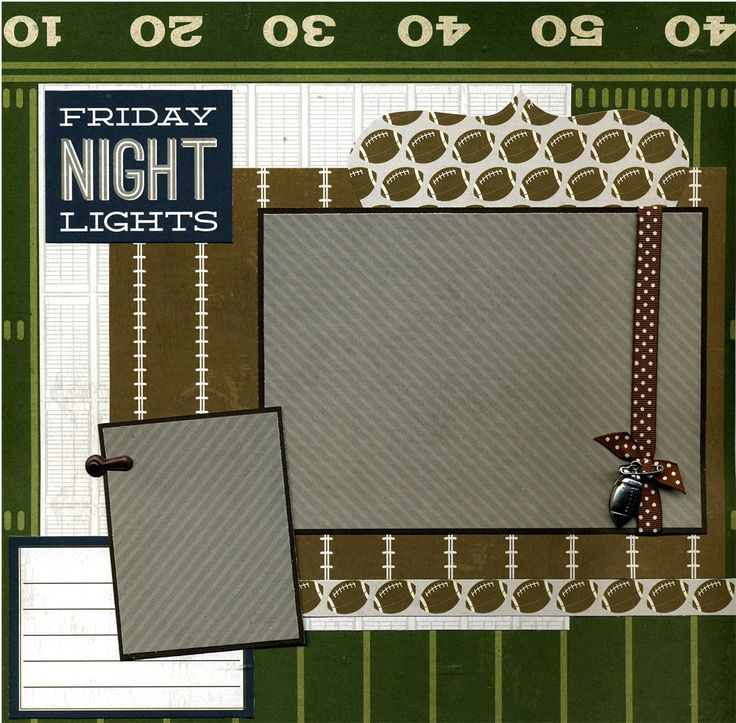 Premade Football Scrapbook Page - Friday Night Lights. $15.95, via Etsy.
