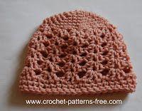 free crochet baby hat patterns-crochet patterns-free