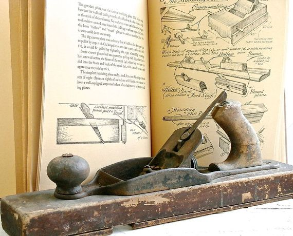 Antique Wood Plane Rustic Tool Jointer by DairyFarmAntiques, $98.00