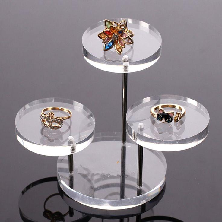 Orgaizer Display St Clear 3 Tray Acrylic earring Bracelet lace Display St Shelf