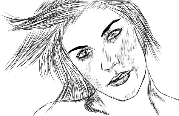 Tentativa de retratar a Liv Tyler.