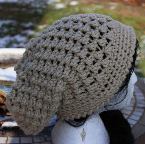 Crochet Pattern Slouchy Hat instant download by WeddingsBabiesHome