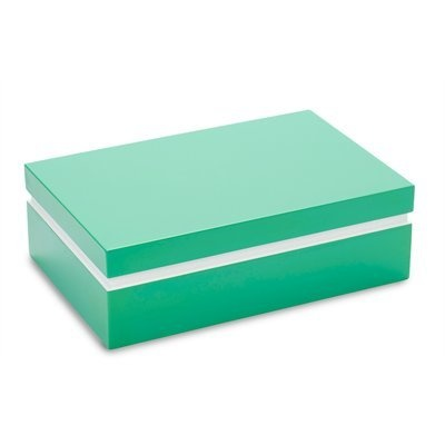 Lacquer Storage Box - Teal