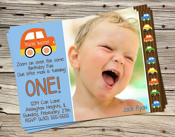 Cars Birthday Theme Digital Photo Invitation. $11.00, via Etsy.