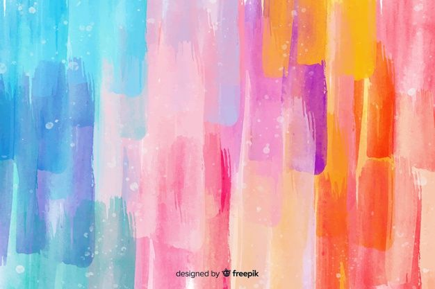 Download Watercolor Colorful Brush Strokes Background For Free