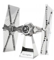 Boldy go to a galaxy far, far away with Star Trek and Star Wars 3D Laser Cut Models. This one is Metal Earth 3D Model of Star Wars TIE Fighter
