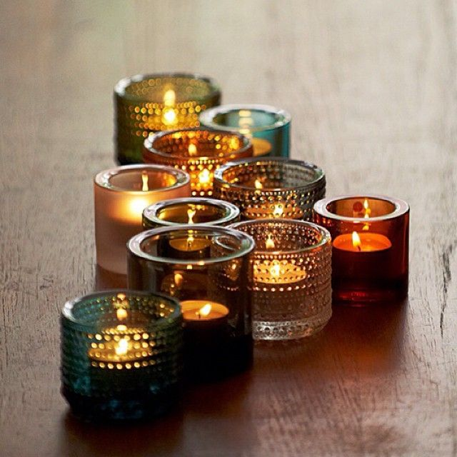 Light and flame, glass and fire. #Kastehelmi #Kivi #Iittala candle holders perfect for any time of day or night.