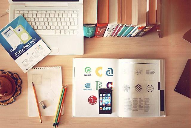 ノートブック, ワークプ レース, デスク, Iphone, ライブラリ, 研究, 勉強, 学習, 教育