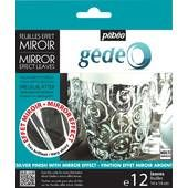 Pebeo Silver Mirror Effect Leaves 12 Sheets