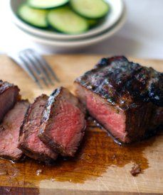 elm street life: Butcher's secret - teres major steak seared in buttered skillet then baked at 400F for 5-7 minutes