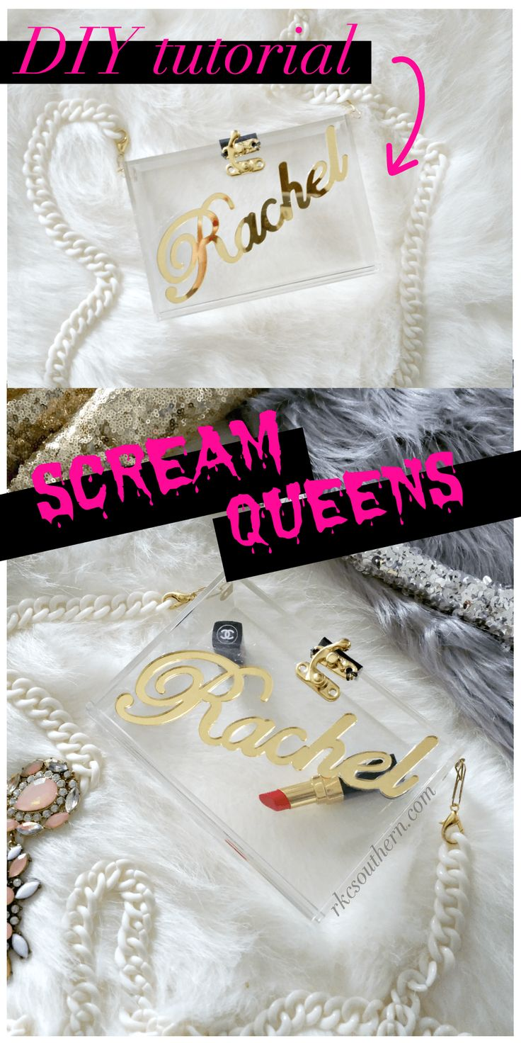 Scream Queens Inspired Acrylic Box Clutch DIY