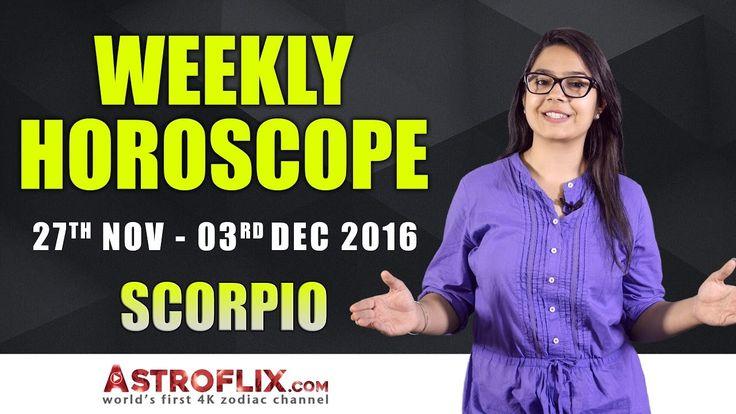 Scorpio Weekly Horoscope: November 27 to December 03, 2016 – GaneshaSpeaks.com #Scorpio #Weekly #Horoscope