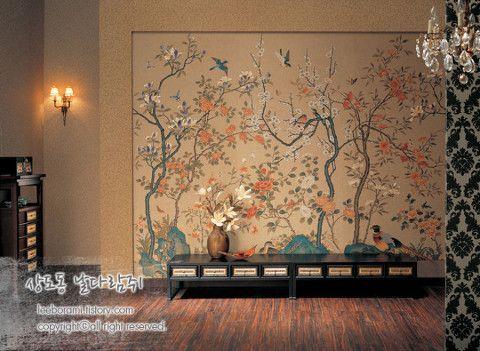 korean folk art wallpaper