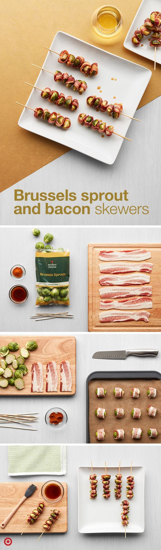 Brussels Sprout & Bacon Skewers