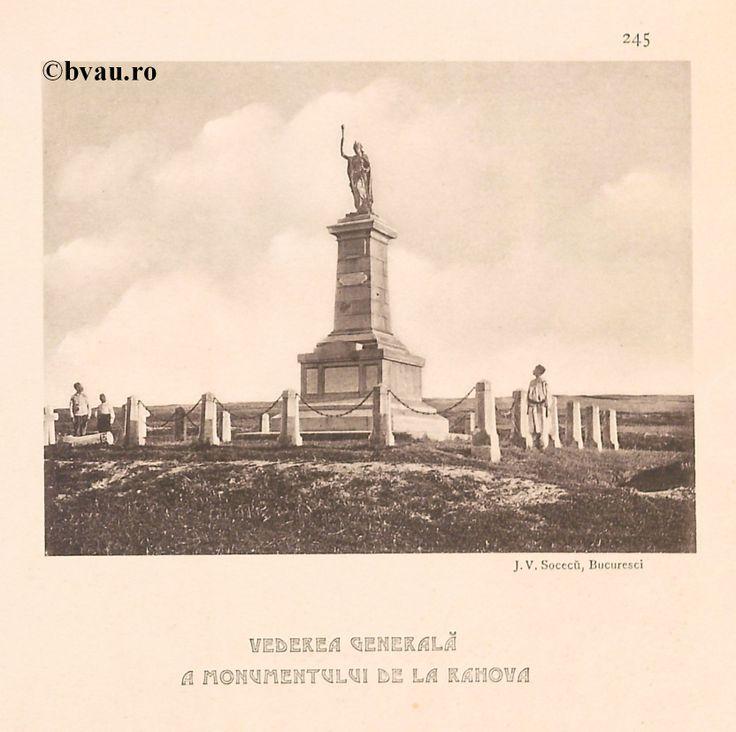 """Vedere Generală a Monumentului de la Rahova, 1902, Romania. Ilustrație din colecțiile Bibliotecii Județene """"V.A. Urechia"""" Galați. http://stone.bvau.ro:8282/greenstone/cgi-bin/library.cgi?e=d-01000-00---off-0fotograf--00-1----0-10-0---0---0direct-10---4-------0-1l--11-en-50---20-about---00-3-1-00-0-0-11-1-0utfZz-8-00&a=d&c=fotograf&cl=CL1.44&d=J247_697980"""