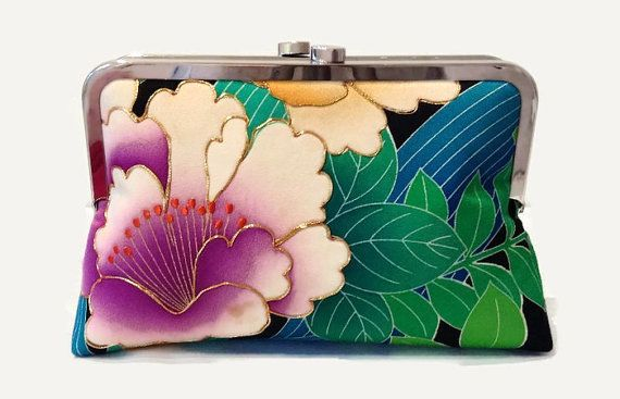 Hey, I found this really awesome Etsy listing at https://www.etsy.com/listing/233669832/japanese-floral-silk-clutch-purse-floral
