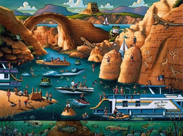 8 best puzzle wuzzle images on pinterest jigsaw puzzles art print dowdle jigsaw puzzles lake powell gumiabroncs Images