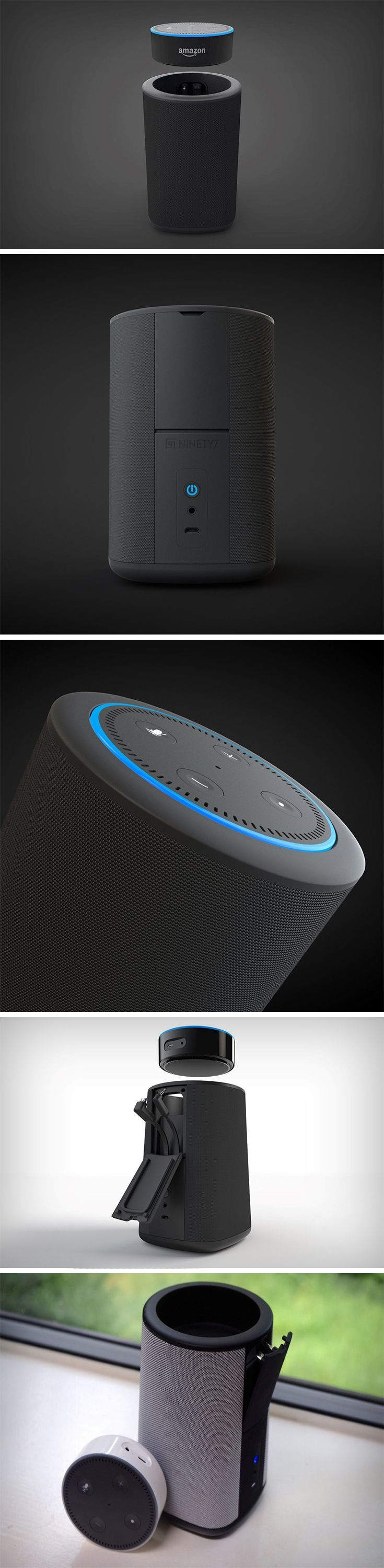 If you've got an Amazon Echo Dot lying around the house you know exactly how good it is as an AI butler but how lackluster it is in the music department. In comes the Vaux, a one-of-a-kind accessory for the Amazon Dot (Gen 2). What the Vaux is, is a wireless speaker unit made specifically for the Dot. The Vaux retains every bit of the Dot's features and allows it to perform as a pretty good speaker too. BUY NOW!