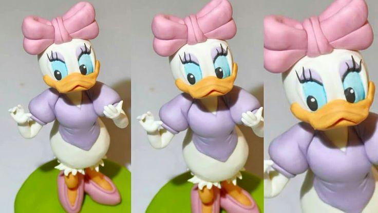 Tutorial daisy duck fondant cake topper paperina pasta di zucchero torta...
