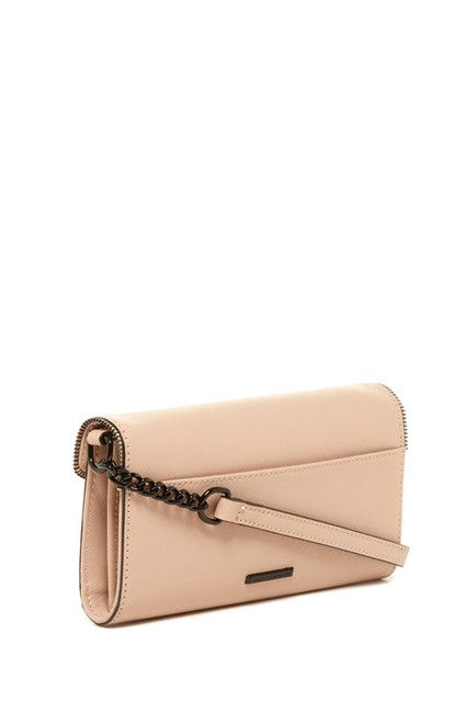 Image of Rebecca Minkoff Cleo Leather Crossbody Wallet