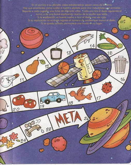 Space game, free printable 1 / Juegos de mesa