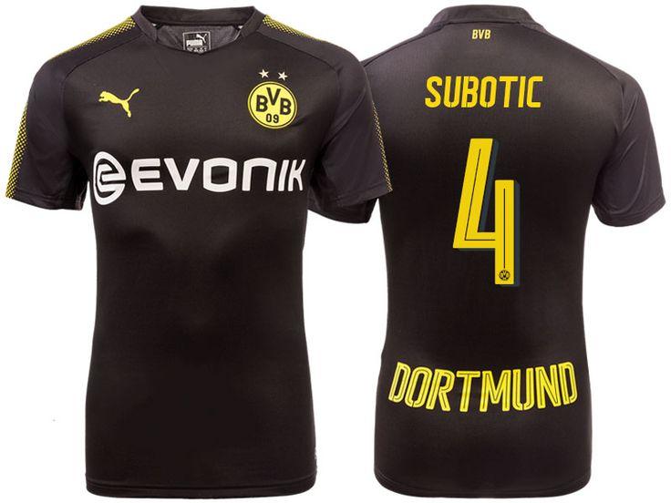 Borussia Dortmund 2017-18 Away Shirt neven subotic