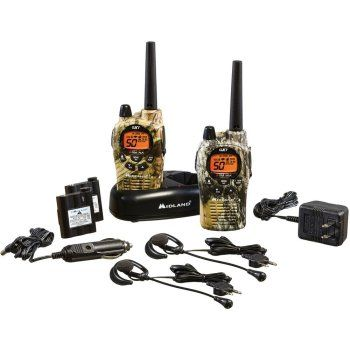 Gifts for Hunters Midland GXT 36-Mile 50-Channel Camo Walkie Talkies