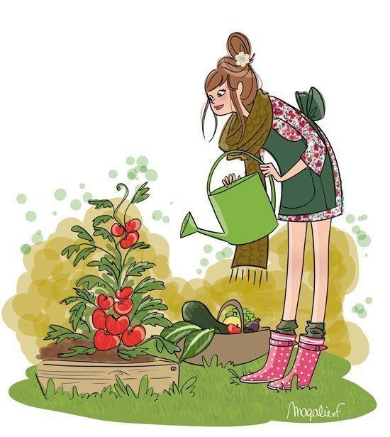 Садовник картинки нарисованные, никахом