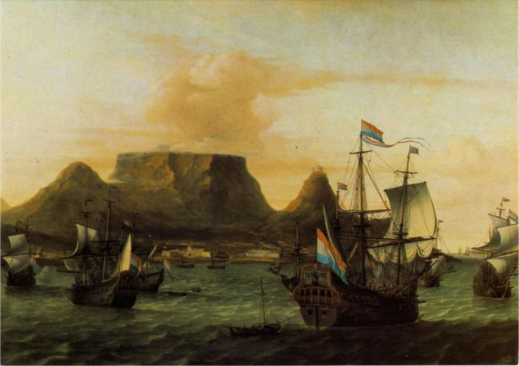 Aernout Smit. Table Bay, 1683. Dutch ships set sail from Table Bay. Cape Town.