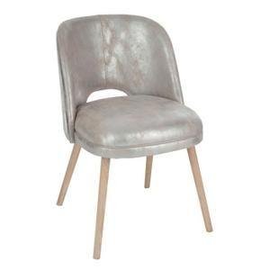 Chaise Chaise En Cuir Argent Sliver Le Salon De Mes Rêves