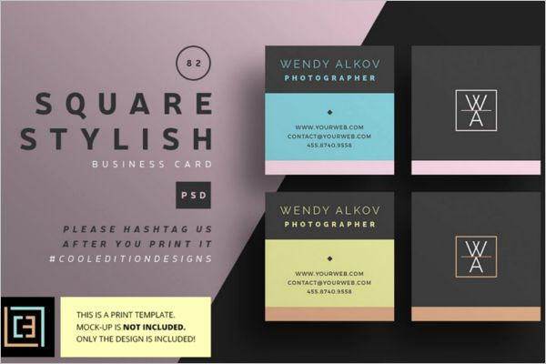 Square Business Card Template New 53 Square Business Card Templates Free Psd Wo In 2020 Free Business Card Templates Stylish Business Cards Business Card Template Word