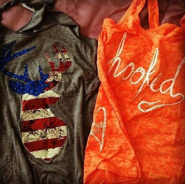 im not as crazy about the hooked shirt as much as I am about the American flag buck head shirt!