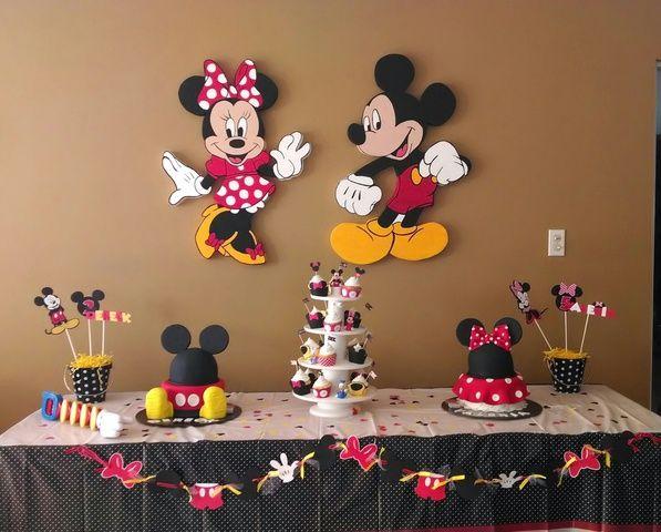 Vendo decoraci n para cumplea os de mickey y minnie - Manteles de cumpleanos infantiles ...