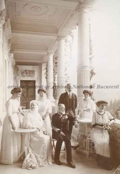 BU-F-01073-1-07455 Regele Carol I, regina Elisabeta, Principesa Sophie de Wied, Principesa Louise de Wichtenstein, Principele de Wied, 1912 (niv.Document)