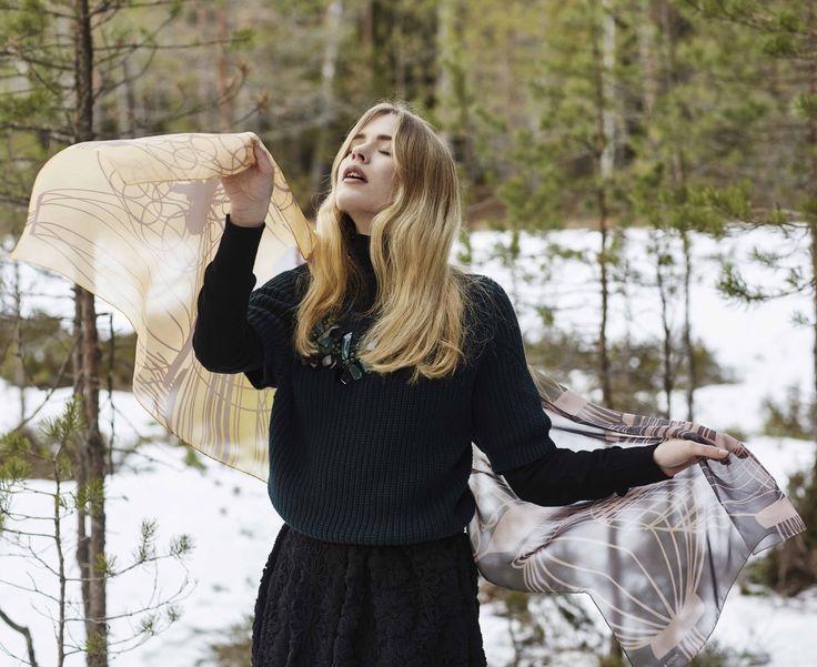 FW15 #MarjaKurki #Scarf #Silk #FinnishDesign