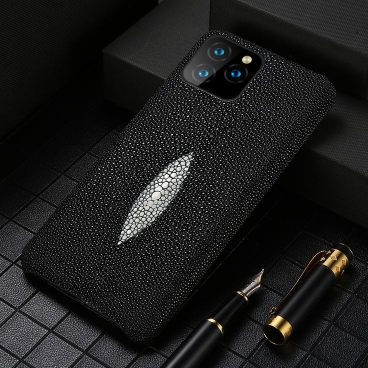Genuine Stingray Leather Cell Phone Case for Apple iPhone ...
