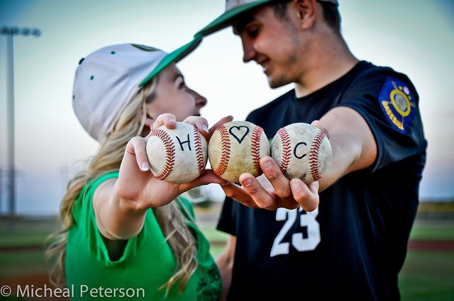 cute couple photo. oh my gosh yes, when I  marry my baseball player. H Loves C by Micheal  Peterson, via Flickr