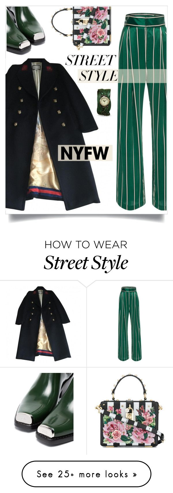"""NYFW: Street Style 2"" by gracecar3 on Polyvore featuring Calvin Klein 205W39NYC, Gucci, Dolce&Gabbana, contestentry and nyfwstreetstyle"
