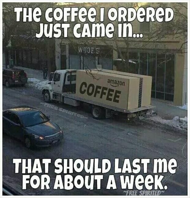 he coffee I ordered just came in... that should last me for about a week | www.SlenderSuzie.com