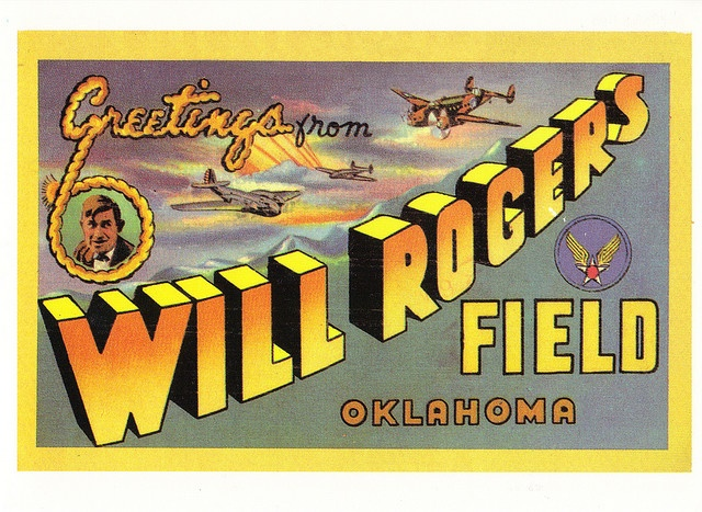 66 Postcard Will Rogers Field During Route Was Filled With Troops Going To Battle Find This Pin And More On Lets Make An OKC Coloring Book