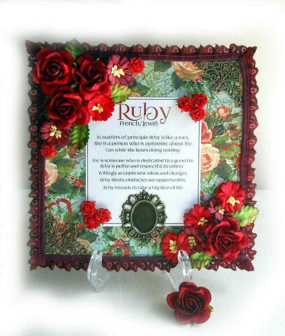 Ruby Name Decorative Keepsake Plaque | Lynn's Designer Creations | madeit.com.au