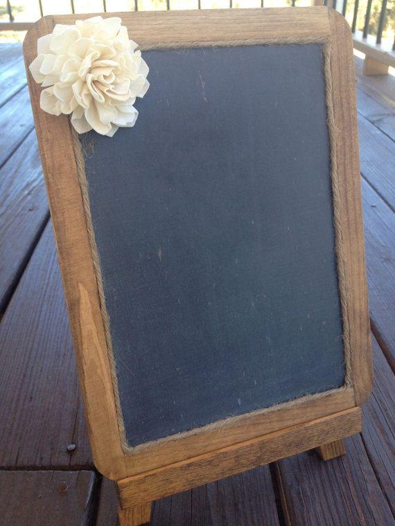 Framed Shabby Chic Rustic Chalkboard - 7x10 Chalkboard - Chalkboard Photo Prop - Rustic Wedding