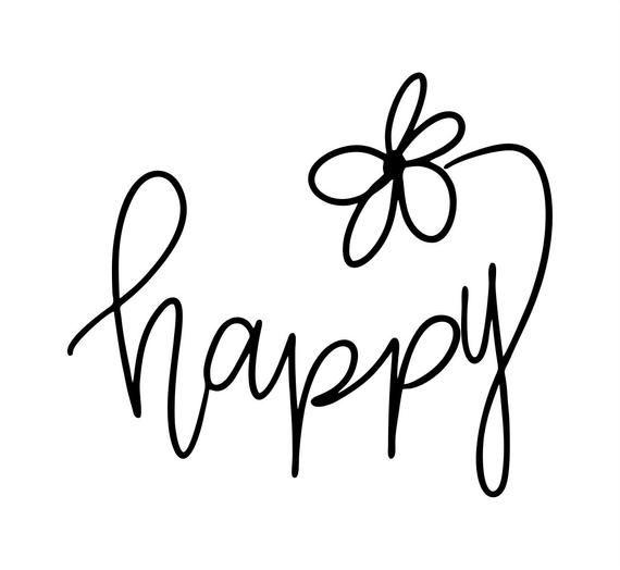 Download Happy SVG, Feel Good SVG, Mindfulness SVG, Life is Happy ...