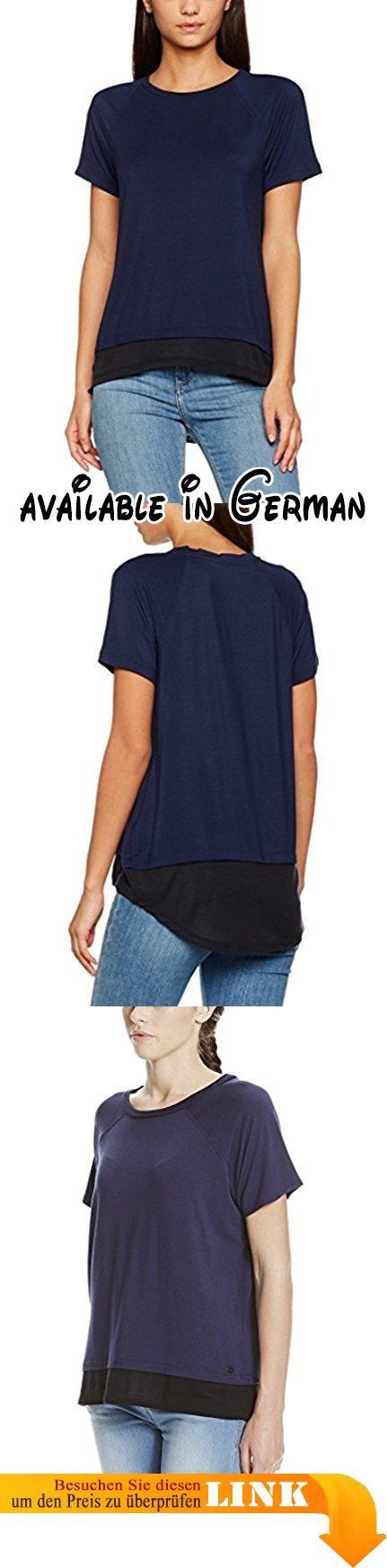 Bench Damen T-Shirt Raglan Tee Blau (Maritime Blue BL193), 38 (Herstellergröße: M). Schönes Bench T-Shirt mit stylischem extra.. Details: Bench T-Shirt im Straight schnitt in two in one Optik. #Apparel #SHIRT