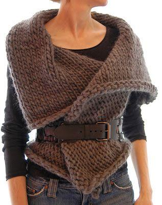 Chunky knit waistcoat top.