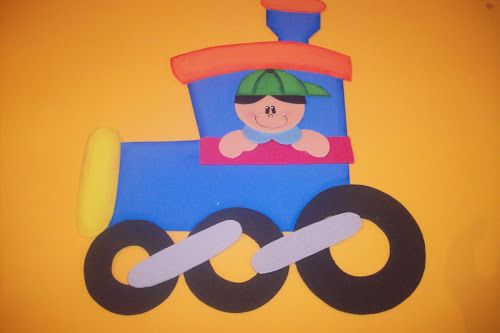 train craft idea for kids  |   Crafts and Worksheets for Preschool,Toddler and Kindergarten