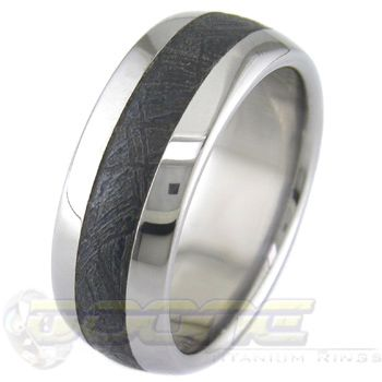 Meteorite Black Black Meteorite Rings [meteoriteblack] - $485.00 : Titanium Ring Company: Meteorite Wedding Rings in Titanium, Black Zirconium and Cobalt Chrome